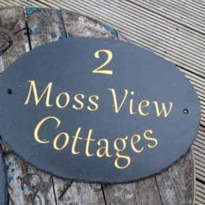 Rustic Edge Large Oval House Signs