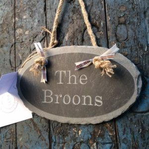 Hanging Engraved Slate Signs