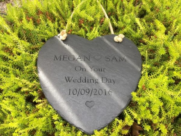 Deep Engraved hanging Heart