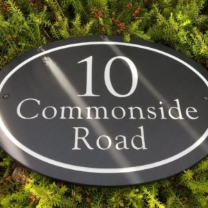 Large Oval Slate House Sign