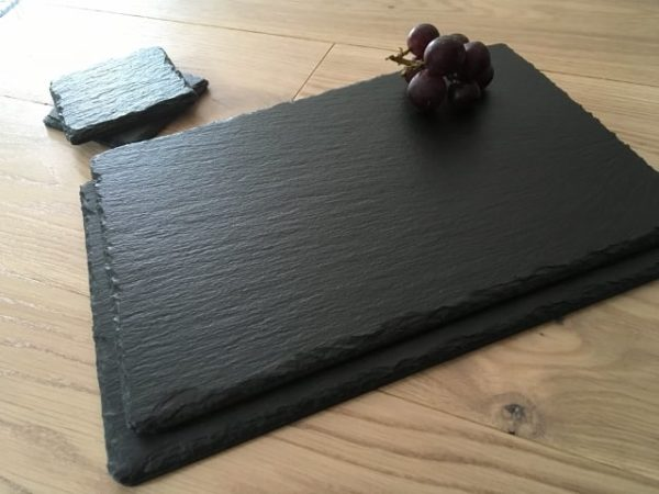 16x10 Inch Slate rectangle placemats with coasters