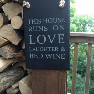 This House Runs On LOVE Hanging Sign