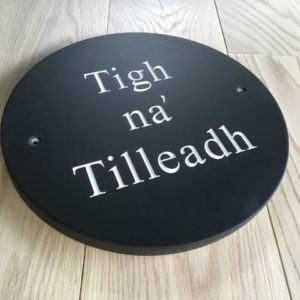 Large Round Slate House Sign