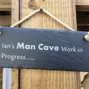 Personalised Slate Hanging Door Garden Gate Signs