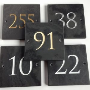 Engraved Slate House Number 150mm x 150mm