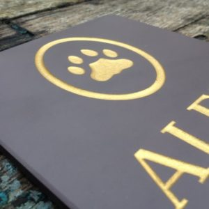 Dog Cat Memorial With Paw Print