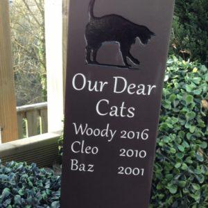 Self Standing Slate Pet Memorial