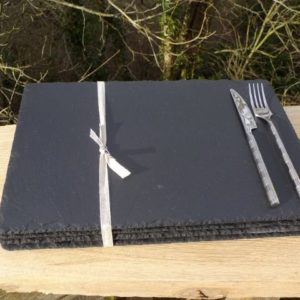 Rectangular Slate Placemats Without Coasters