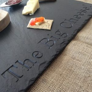 The Big Cheese Personalised Slate Board