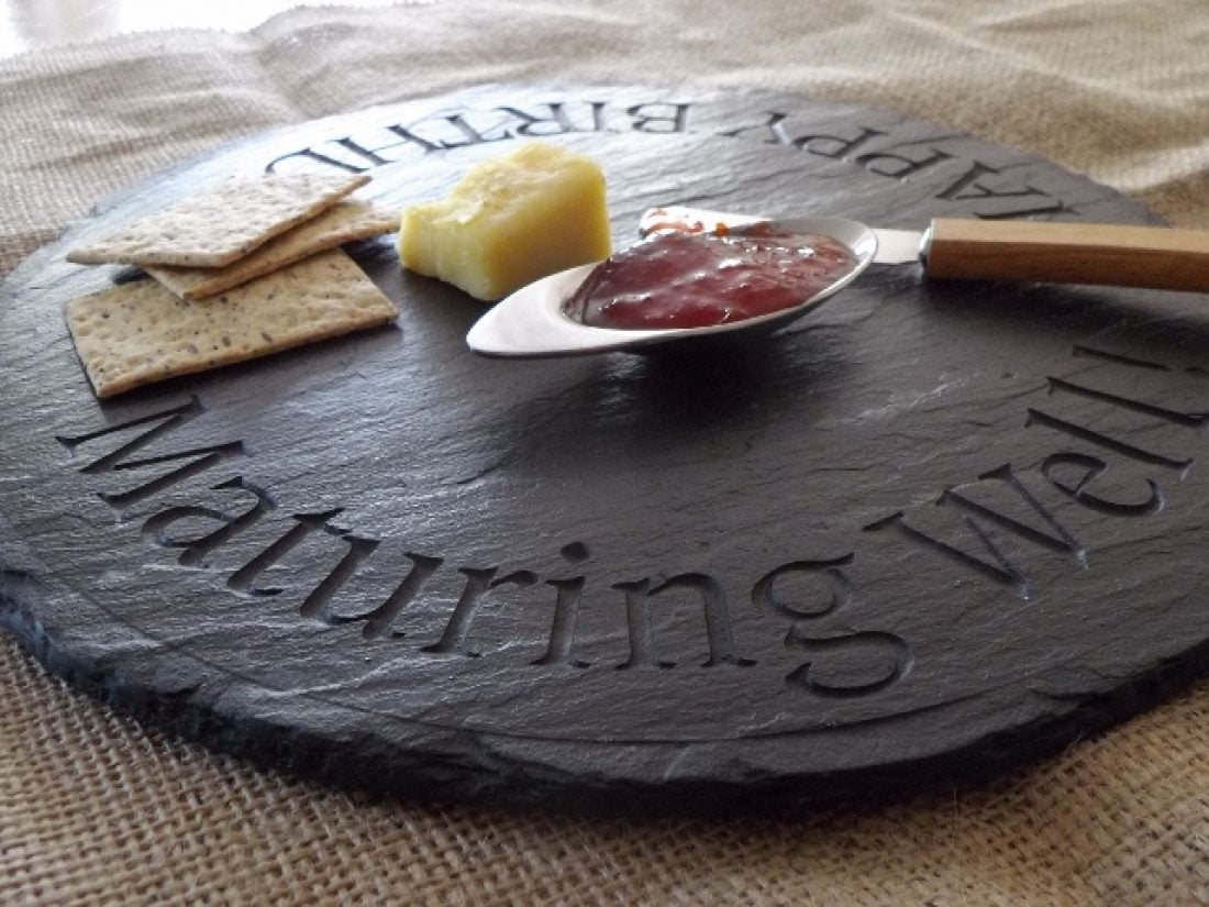 Born in the Borders - Scottish Slate Gift ~ Scottish Slate Gifts